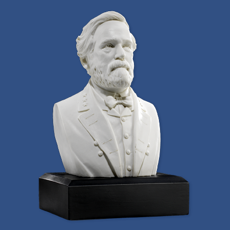 Robert E Lee 6 inch Marble Bust