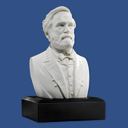 Robert E Lee 6 inch Marble Bust