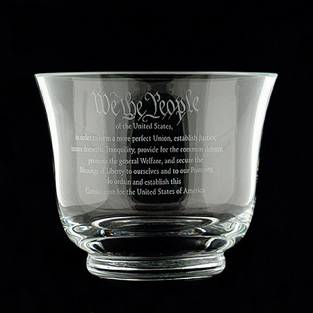 7 1/2-inch Crystal Constitution Bowl