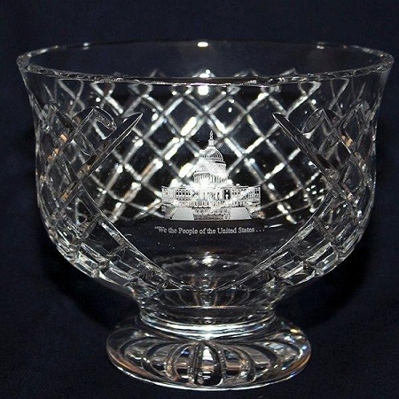7 1/2-inch Footed Crystal Bowl