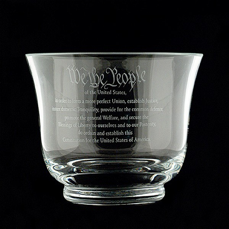 9-inch Crystal Constitution Bowl