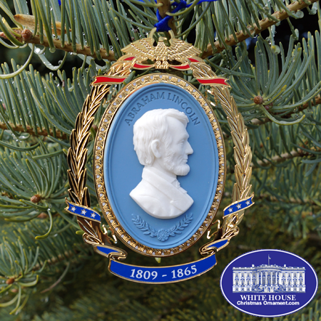 President Abraham Lincoln Cameo Ornament