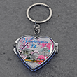 Cherry Blossom Folding Mirror Keychain Key Ring