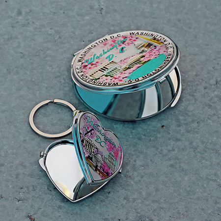 2020 Washington DC Cherry Blossom Makeup and Key Ring Mirror Set