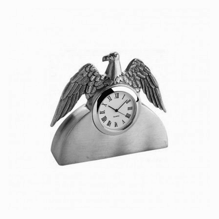 American Eagle Pewter Clock