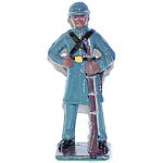 BLACK CONFEDERATE INFANTRYMAN METAL FIGURINE