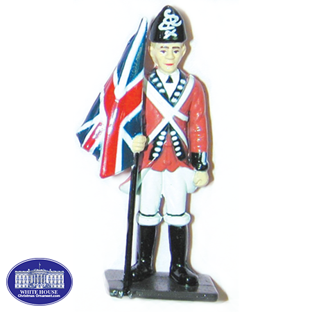 British Flag bearer Metal Figurine