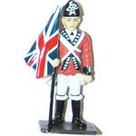 British Flag bearer Metal Figurine