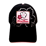Black Cherry Blossom Patch Hat