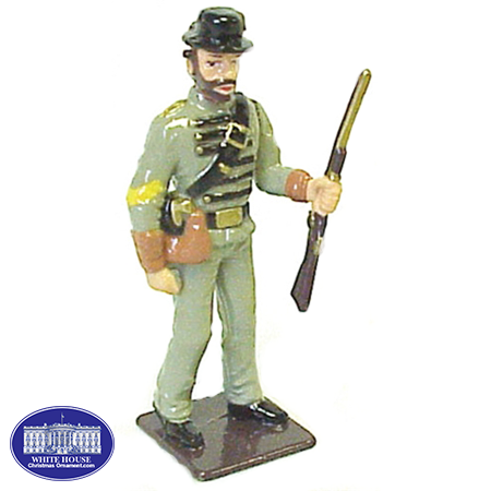 CONF. CAVALRY SGT. METAL FIGURINE