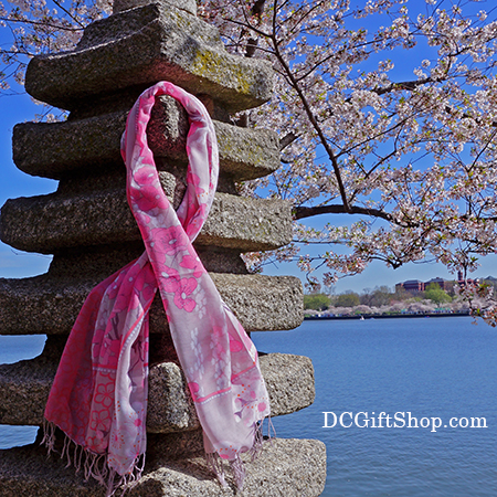 Hand Made Cherry Blossom Wool Scarf
