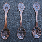 Washington DC Copper Souvenir Spoon Set