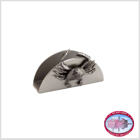 Pewter Crab Business Card Holder