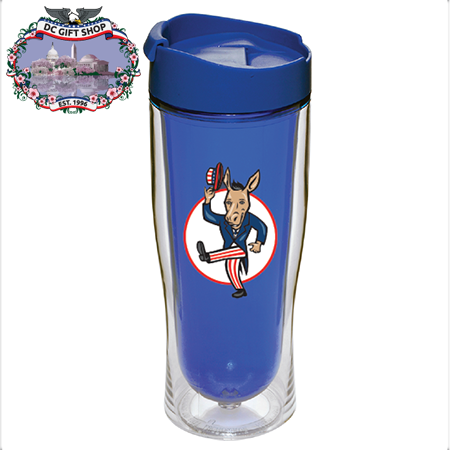 Democrat Party 16 Ounce Blue Drink Tumbler