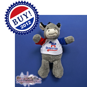 Vote Barack Obama Democrat Donkey Stuffed Animal