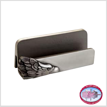 Pewter Eagle Business Card Holder