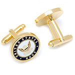 Enamel US Navy Cufflinks