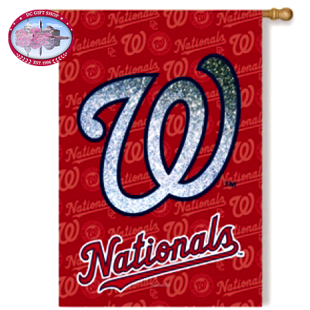 Flag, Suede, Glitter, DS, Reg, Washington Nationals
