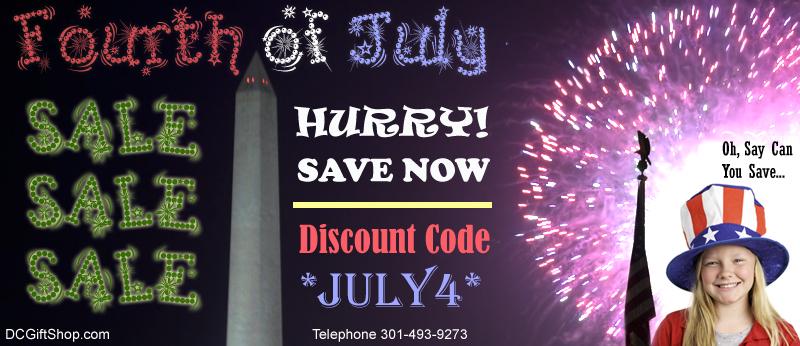 Washington DC Gift Shop - Fourth of July Sale