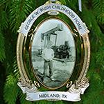 George W Bush Oil Pumpjack Ornament