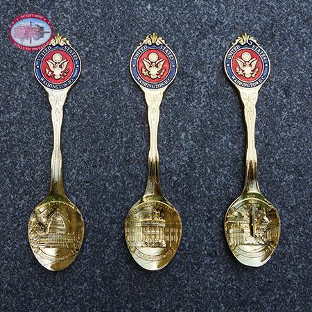 Washington DC Gold Souvenir Spoon Set