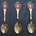 Washington DC Gold Souvenir Spoon Set