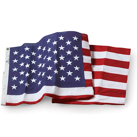 """Official Government Specified U.S. 3'-6"""" x 6'-7.75"""" Outdoor Nylon Flag"""