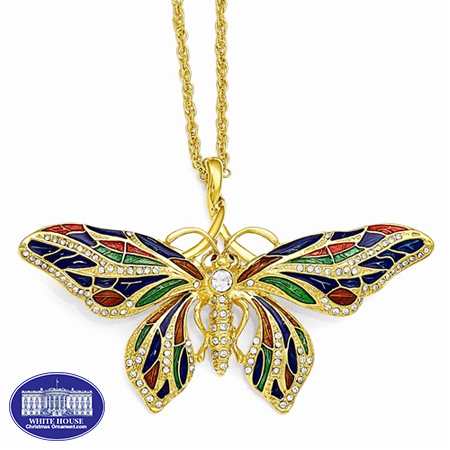 Kennedy Butterfly 24 K Necklace and Butterfly Pendant