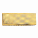 Kennedy Minaudiere 7 inch Gold Purse Handbag