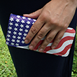 Ladies Stars and Stripes Clutch Purse