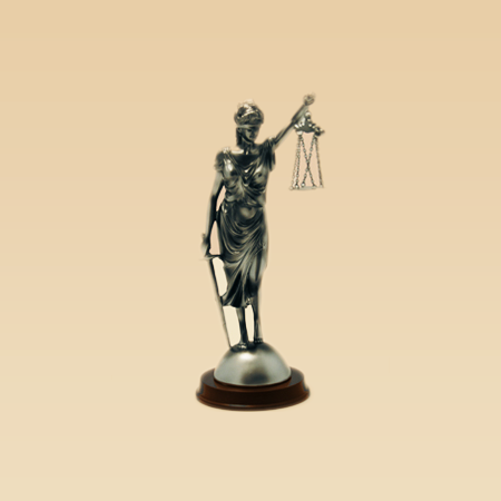 Lady Justice Silver Statue