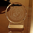 Marine Corps Seal Glass Paperweight