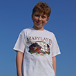 Maryland State Map T Shirt - White