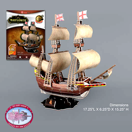 Mayflower 3D Puzzle, 111 Pieces