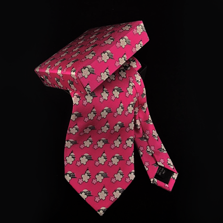 Men's Pink Cherry Blossom Necktie