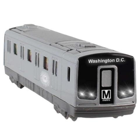 Metro Subway Rail Car Pullback Toy