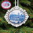 Mount Vernon East View Toile Ornament