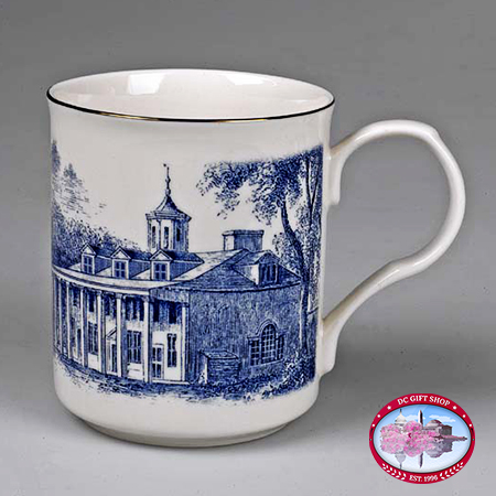Mount Vernon East View Toile Porcelain Mug