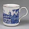 Mount Vernon East View Toile Porcelain Mug