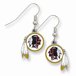 NFL Redskins Enameled Zinc Dangle Earrings
