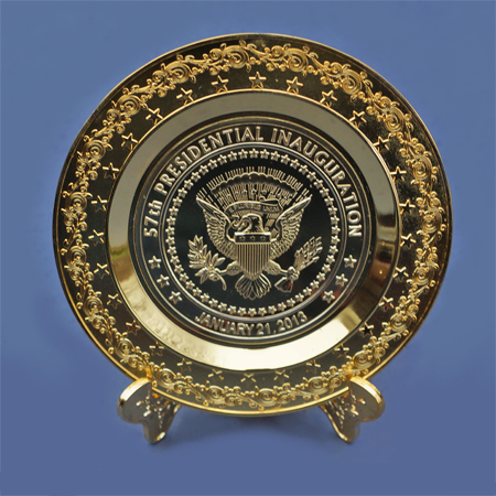 57th Presidential Inauguration Commemorative Gold Plate