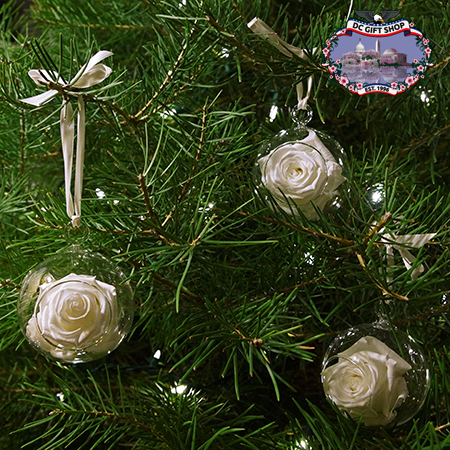Old Glory Real Rose Ornament Set