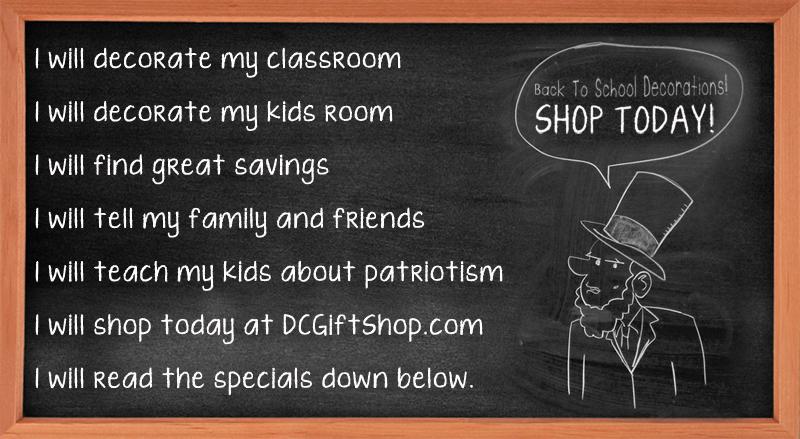 Back To School Patriotic Classroom Decorations Washington Dc Gift Shop