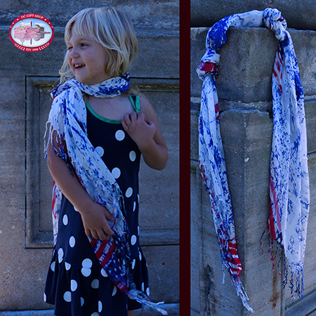Patriotic Holiday Fashion Scarf