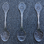 Washington DC Pewter Souvenir Spoon Set