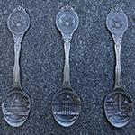 Washington DC Pewter Souvenir Spoon Set