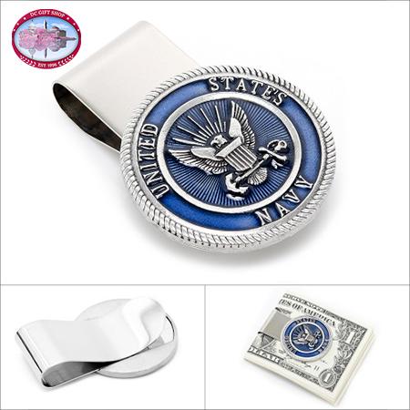 Pewter U.S. Navy Money Clip