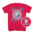 Red Jefferson Memorial Cherry Blossom Tee Shirt