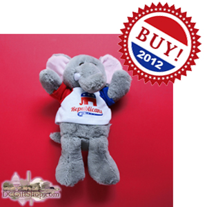 Vote Mitt Romney Republican Elephant Stuffed Animal