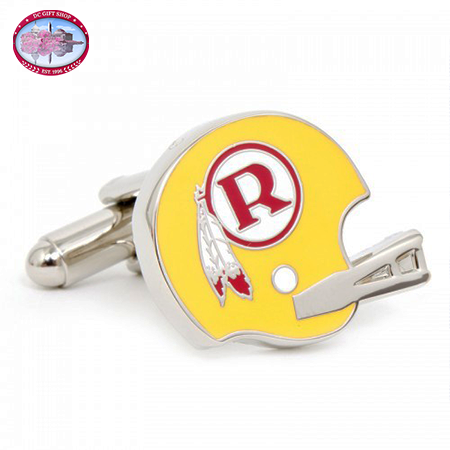 Retro Washington Redskins Helmet Cufflinks